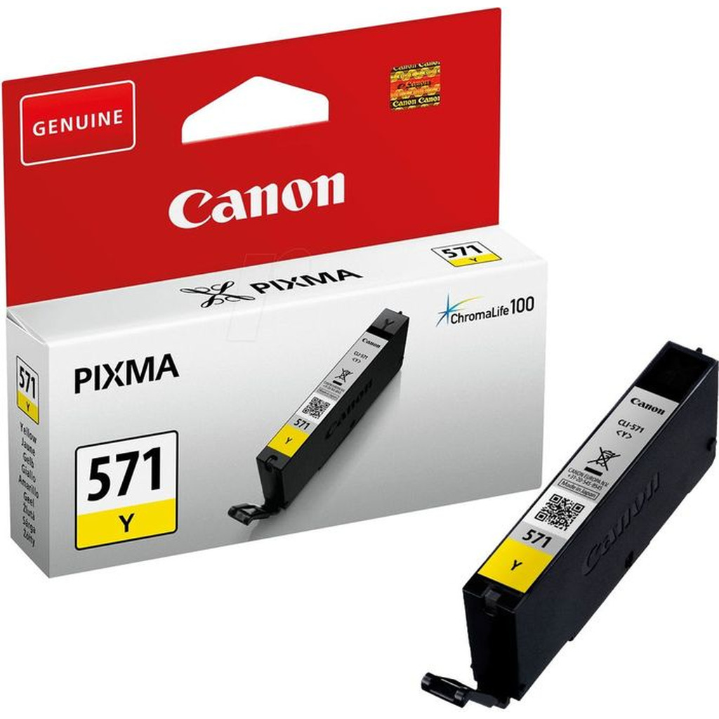 Tinta CANON CLI-571  Yellow original-0