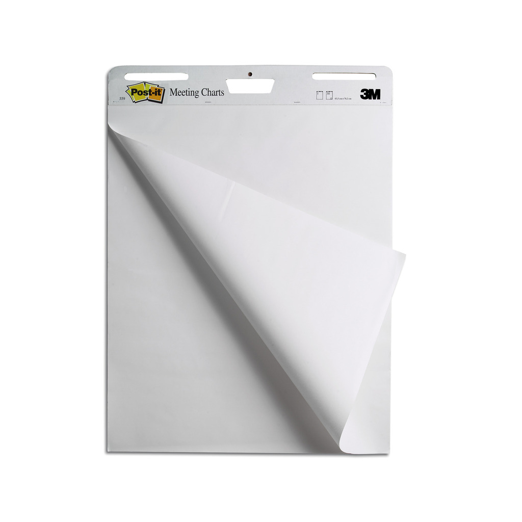 Blok Flipchart samoljepljivi 63,5x76,2cm 30l Post-it 3M.559-0
