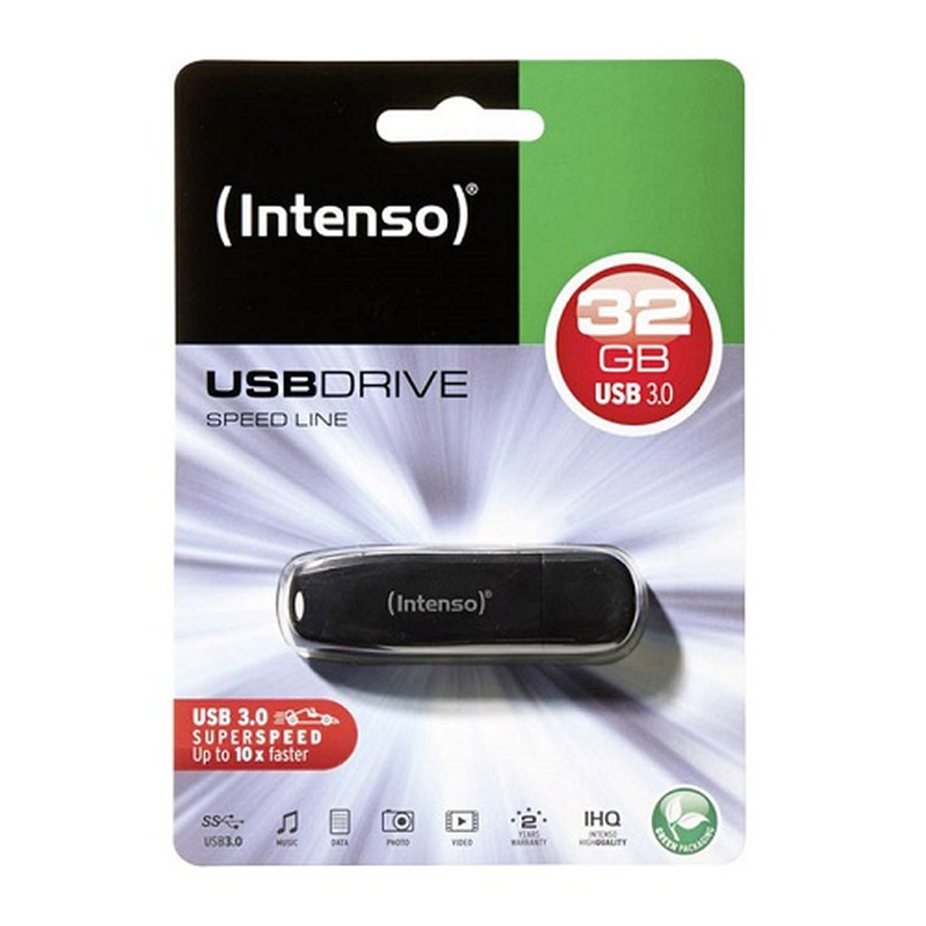 USB 3.0 Flash drive  32GB INTENSO Speed Line - black-0