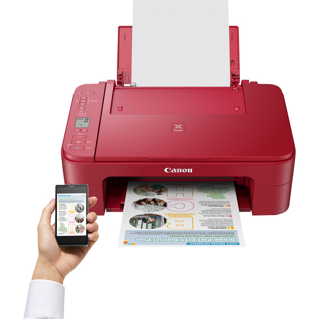Printer CANON Pixma TS3352 All-in-one WiFi - Crveni-0