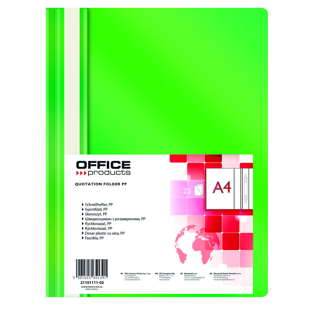 Fascikl euromehanika  A4 Office products 1/1 zeleni-0
