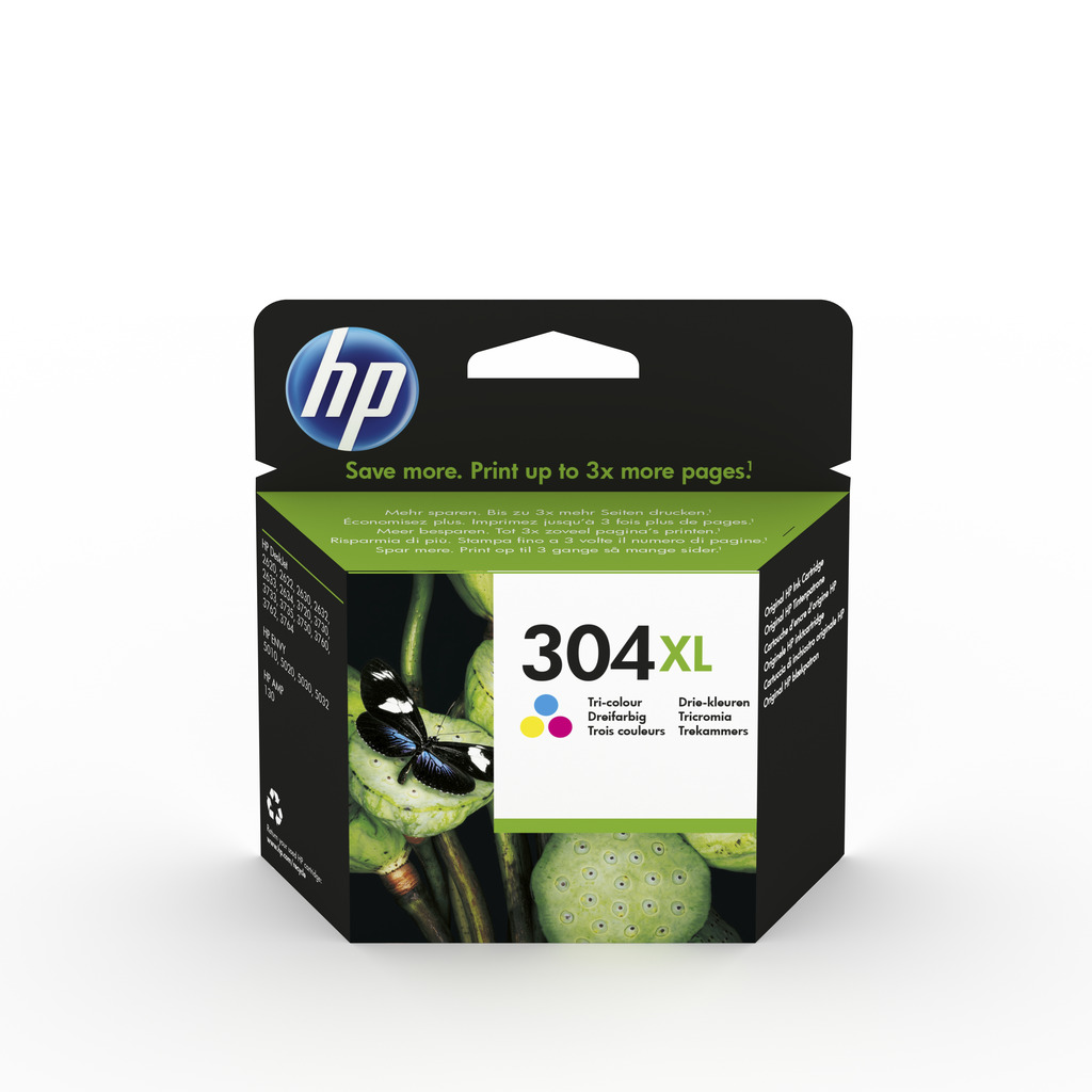 Tinta HP N9K07AE Tri-color No.304XL-0
